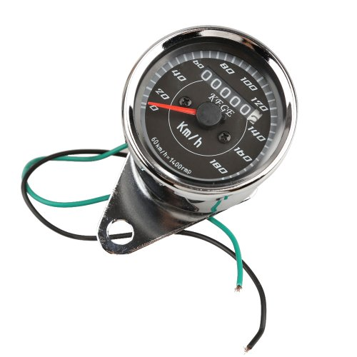 Unterbrechen Motorrad Classic Dual LED Kilometerzähler Speed Speedo Messgerät 0–180km/h