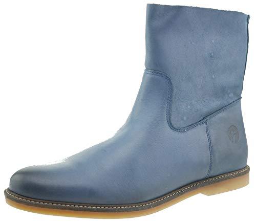 Hautes de Femme Cheville Bleu Ankle EU Travelin' Plates en 41 Fermeture Marseille Loisirs éclair Bottines avec pour Cuir de Boots Bottes qUSpMzV