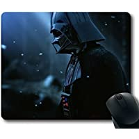 Custom Gaming Mouse Pad with darth vader armor star wars film hat snow Non-Slip Neoprene Rubber Standard Size 9 Inch(220mm) X 7 Inch(180mm) X 1/8 Inch(3mm) Desktop Mousepad Laptop Mousepads Comfortable Computer Mouse Mat