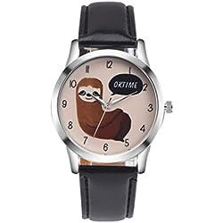 HARRYSTORE Retro Cartoon Koala Design Leather Band Analog Alloy Quartz Wrist Watch Feature: