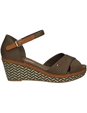 Tommy Hilfiger E1285LBA 31D, Damen sandalen, taupe