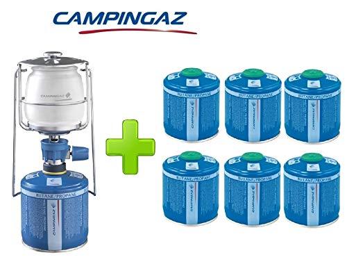 ALTIGASI Lanterne Lampe à gaz Campingaz LUMOGAZ Plus de 80 W + 6 pièces Cartouche CV 300 de 240 GR