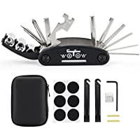 WOTOW 16 in 1 Multi-Function Bike Bicycle Repair Tool Kit Allen Wrench With 3 pcs Tire Pry Bars Rods