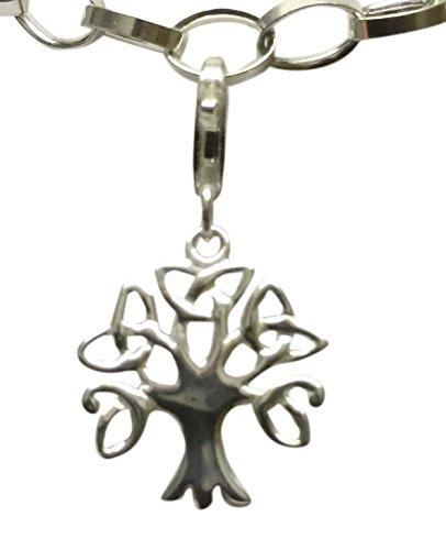 Sterling-Silber 925, keltischer Baum des Lebens mit Clip