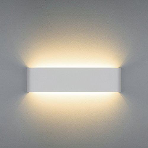 Netboat Lámpara de pared Interior 12W Moderna Apliques de Pared Blanco Cálido,Moda Agradable Luz de Ambiente perfecto para Lámpara de Decoración para