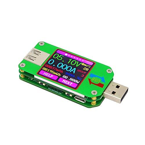 Chunyang USB Tester USB Multimeter Spannungsprüfer Strom Tester mit Farbdisplay Test Last Impedanz, Power Bank, Ladegerät und Kabel Monitor, 2,0/3,0 QC