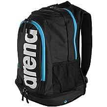 Arena Fastpack Core, Mochila Unisex Adulto, Negro (Black/Turquoise), 36x24x45