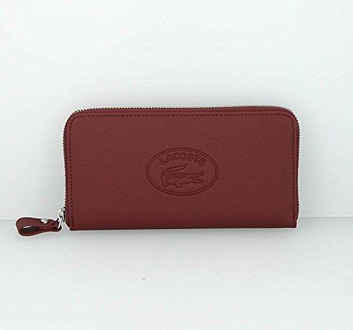 Lacoste New Classic portafoglio pelle 19 cm Bordeaux