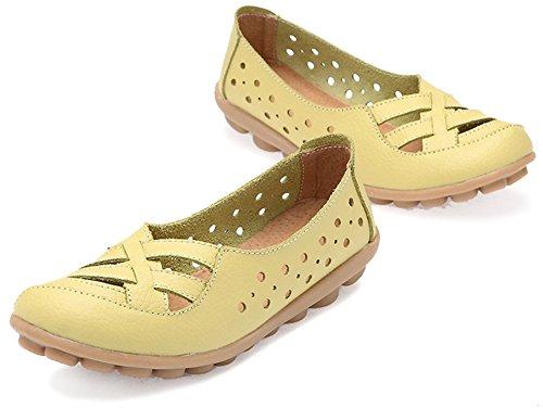 Fangsto  Loafer Flats,  Mädchen Damen Sneaker Low-Tops Celery