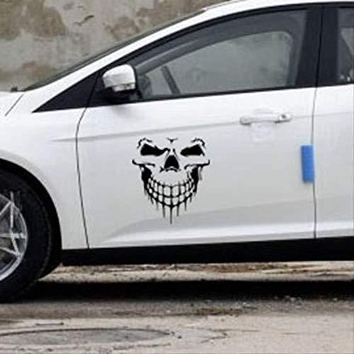 tonywu Kreative Persönlichkeit Thriller Horror Skull Autoaufkleber Autoaufkleber Seitlichen Türaufkleber Reflektierenden Auto Heckglas Aufkleber 59X55CM Eine