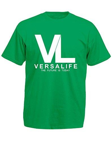 genetics-corporation-mann-gedruckt-t-shirt-grun-weiss-xl-111-116cm
