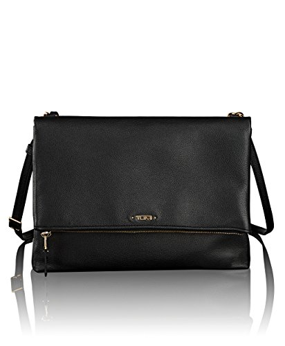 Tumi Voyageur - Misty Crossbody, Leather Umhängetasche, 28cm, 1.3L, Schwarz (Weekender Cross Body)