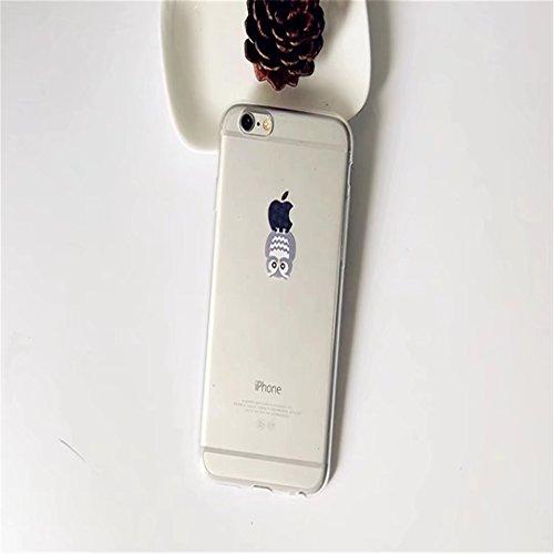 Custodia iPhone 6 6S 4.7 TXLING Cover Serie Silicone TPU Cassa Ultra Sottile Case Protettiva Morbida Flessibile Caso Liscio Leggero Custodia Antigraffio Antipolvere Cover- unicorno marrone gufo