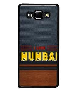 PrintVisa Designer Back Case Cover for Samsung Galaxy A8 (2015) :: Samsung Galaxy A8 Duos (2015) :: Samsung Galaxy A8 A800F A800Y (I Love Mumbai Design)