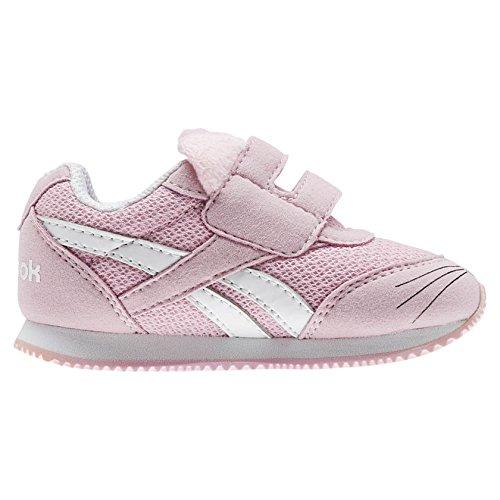 Reebok Royal Cljog 2 Kc, Chaussures de Trail Mixte Enfant, Blanc (Kitten/White/Luster Pink 000), 25.5 EU
