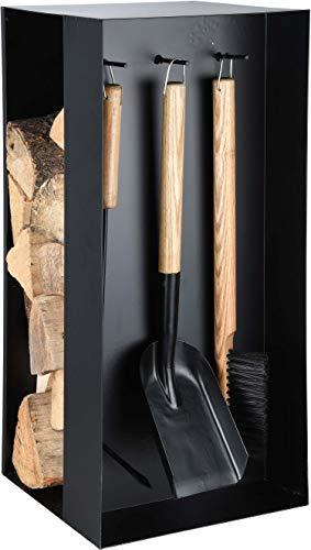Esschert Design Serviteur de cheminée Range bûches