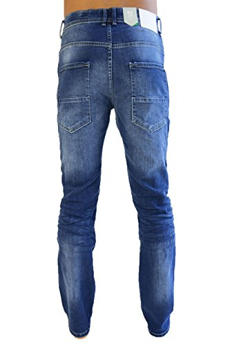Hommes Pantalon Cargo Combat Jean By Crosshatch Délavé moyen