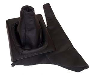 set schaltsack schaltmanschette handbremsmanschette handbremssack echt leder schwarz amazon. Black Bedroom Furniture Sets. Home Design Ideas