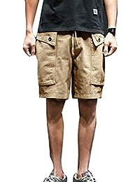 e800d37f41 Mengyu Cargo Shorts Hombre Pantalones de Playa Holgados Medio Pantalón  Bermudas