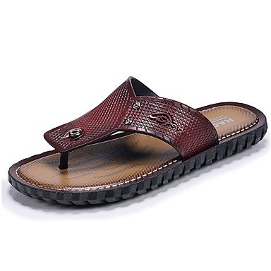pantofole Infradito da uomo Pantofole & amp;Infradito Comfort PU Estate Outdoor piatto Heel Dar sandali US8.5-9 / EU41 / UK7.5-8 / CN42