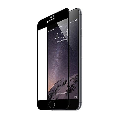 MoArmouz® Tempered Glass Screen Guard Protector For Apple iPhone 7, FULLCOVER - Mobile Accessories / Screen Protectors [BLACK]