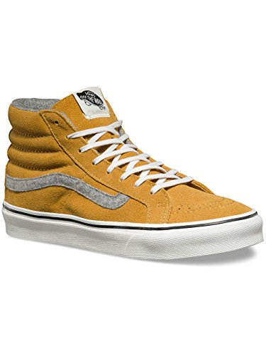 Vans Sk8-hi Slim, Salut-Top Sneakers mixte adulte Gelb (Vintage Suede Amber Gold)