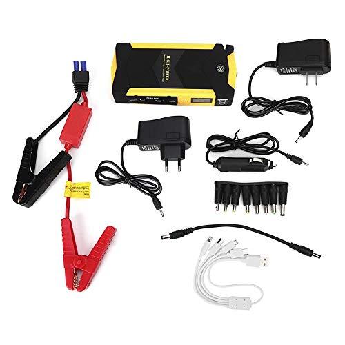 Akozon Auto-Starthilfe, 20000mAh Multifunktions-Auto-Starthilfe Power Booster Batterieladegerät Notstart-Ladegerät(EU)