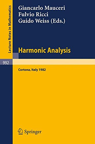 Harmonic Analysis: Proceedings of a Conference Held in Cortona, Italy, July 1-9, 1982