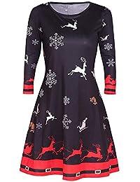 Avacoo Damen Kleider Etuikleid Langarm Elegant Kleid Baumwolle Kleider