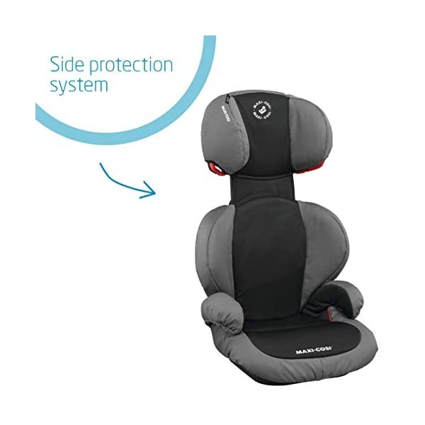 Maxi-Cosi Rodi SPS Child Car Seat, Lightweight, Side Protection System, 3.5-12 Years, 15-36 kg, Slate Black Maxi-Cosi Forward-facing car seat for children from 15 to 36 kg (approximately 3.5 to 12 years) Side protection system offers optimal protection against side impact Easily adjustable in height to suit a growing child 3