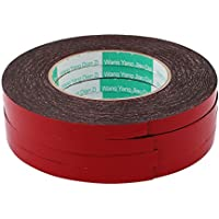 sourcing map 5uds 10mm X 1mm Cinta Adhesiva de Espuma de Esponja Protección de Golpes Choques