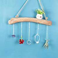Rich-home Wooden Pendant Keys Hooks Small Jewelry Key Door Rear Hanger Driftwood Wall Coat Rack Home Decoration gaudily