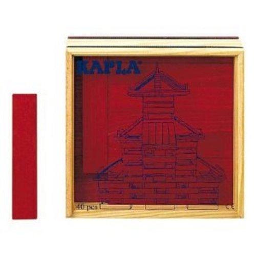 Kapla - C40R - Jouet Premier Age - Les Carres - Rouge