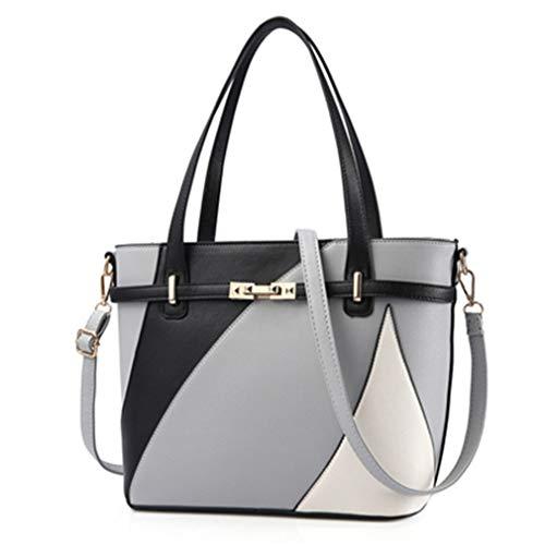 Geometrische Frauen Crossbody Schulter Handtaschen Gray One Size -