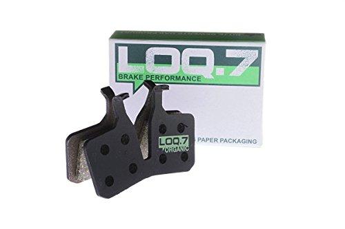 Magura MT 5 Bremsbeläge der Marke LOQ.7 - organisch - High Performance Scheibenbremsbeläge für den Einsatz an hydraulischen Fahrrad MTB Mountainbike Bremsanlagen - absolut plastikfreie Verpackung