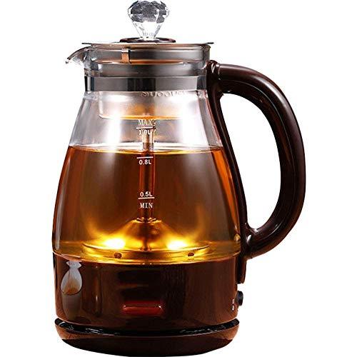 ZSQHD Hervidor de agua eléctrico (sin BPA) - Hervidor de té de vidrio de ebullición rápida, Hervidor de agua caliente con acabado de acero inoxidable - Hervidor de té de vidrio, Tetera - Dispensador d