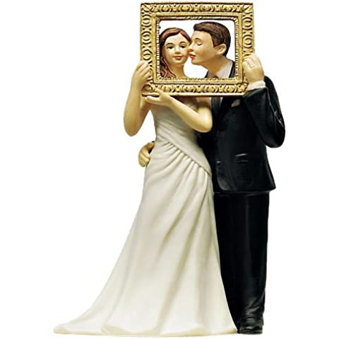 CAKE TOPPER SPOSI NEL QUADRO - Sposo In Porcellana Wedding Cake Topper