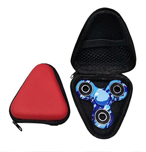 Preisvergleich Produktbild Lanspo Staubdichte Tasche Box Fall für Fidget Hand Spinner EDC Fidget Spinner Fokus Fingerspitze Gyro Toys Paket Tasche (Rot)