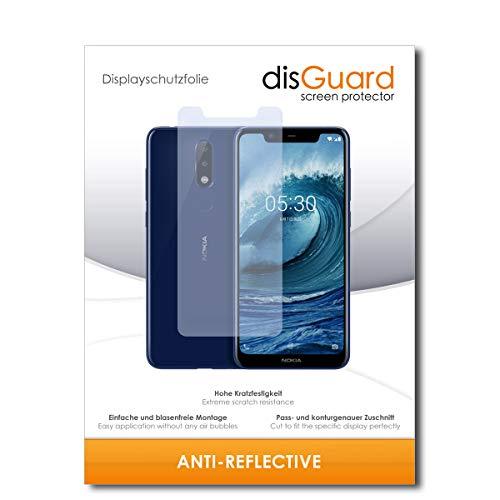 disGuard® Bildschirmschutzfolie [Anti-Reflex] kompatibel mit Nokia 5.1 Plus [2 Stück] Entspiegelnd, Matt, Antireflektierend, Extrem Kratzfest, Anti-Fingerabdruck - Panzerglas Folie, Schutzfolie