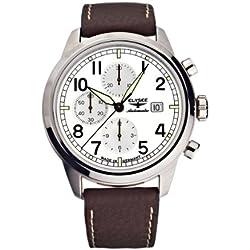 Elysée Men's Automatic Movement Watch with Black Leather Strap - 70925