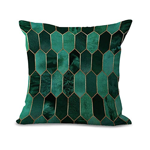 Cushion Cover Geometric Mosaic Graphics Series Triangle Rectangle Hexagonal Pink Green Gray Dark Blue Home Shop Bar Club Car Cat Bed Decor Cotton Cushion Cover/MY-G1027-01(16