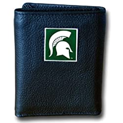 NCAA Michigan State Spartans Deluxe Leather Tri-fold Wallet