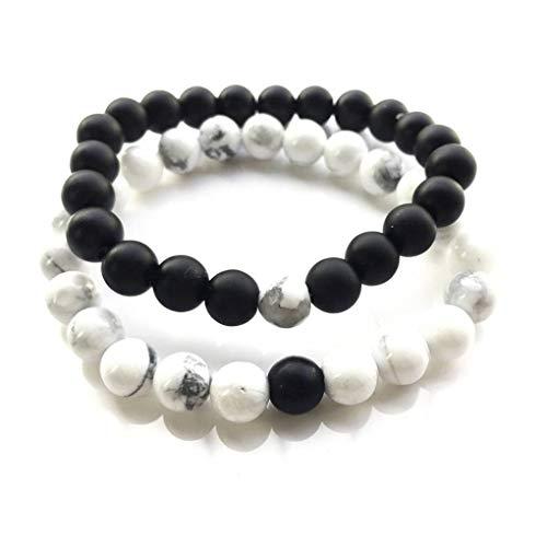 dchen-Magnesit-Korn-Armband weiblicher Runde Armband Armband weiblicher Schmuck Regard L ()
