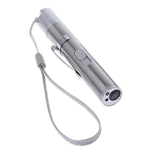 Yunso 3 in1 USB LED Taschenlampe UV Taschenlampe Notfall Lampe Outdoor Bargeld Währung Detektor 1 Led-laser