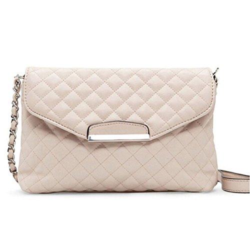 Handtasche Umhängetaschen für damen,YULAND Damen Frauen UmhäNgetasche Leder-Tasche Kupplung Handtasche Tragen Handtasche Landstreicher Messenger (Beige) (Millennium-leder-handtasche)