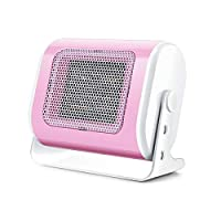 XMIMI Portable Heater,PTC Ceramic Space Heater 500W Portable Fan Heaters Personal 45°Oscillation, 3S Fast Heating, Office Home Hot Air Blowers