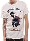 Best Superman Man camisetas - DC Comics Hombre Superman 80th Anniversary Camiseta Blanco Review