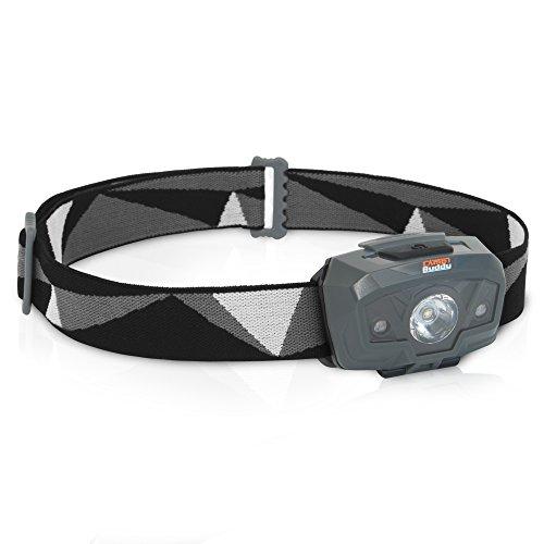 CampBuddy Stirnlampe Wasserdichte LED Kopflampe mit Rotlicht - Ideal zum Laufen, Angeln, Joggen und Camping - Sehr helle Luxeon TX LED bis zu 230 Lumen - Für Kinder geeignet - Inklusive Batterien