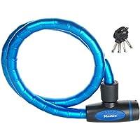 MASTER LOCK 8228EURDPROBLU Candado, 1 m Cable, Llave, Exterior, Azul, para Bicicleta, Monopatín, Paseante, Cortacésped y Otro Equipo, Unisex-Adult