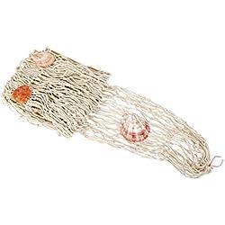 Aofocy Fischnetz mit Muscheln nautischen mediterranen Stil Piraten Ozean Strand nautischen Thema Party für Zuhause Fischernetz Wanddekoration